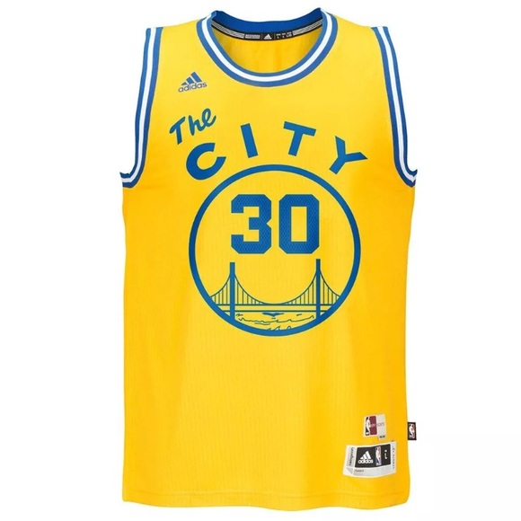 Steph Curry Golden State Warriors The City Jersey. NWT. adidas 7a7eead15